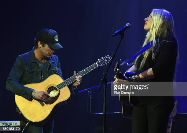 Singer/Songwriters Chris Coleman and Holly Williams perform during Sam's Place Music For The Spirit 2017 at Ryman Auditorium on May 7 2017 in...