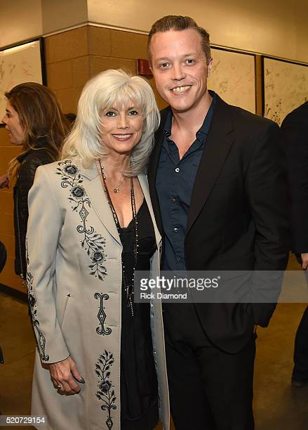 Singersongwriters Emmylou Harris and Jason Isbell attend All For The Hall at the Bridgestone Arena on April 12 2016 in Nashville Tennessee