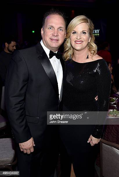 Singersongwriters Garth Brooks and Trisha Yearwood attend the 53rd annual ASCAP Country Music awards at the Omni Hotel on November 2 2015 in...