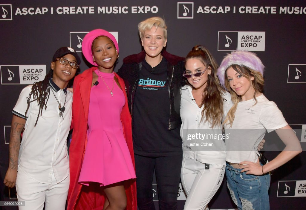Singer/Songwriters Gizzle, Priscilla Renea, Betty Who, JoJo and Lindsey Stirling attend the 'Renaissance Women in Music' panel at The 2018 ASCAP 'I Create Music' EXPO at Loews Hollywood Hotel on May 8, 2018 in Hollywood, California.