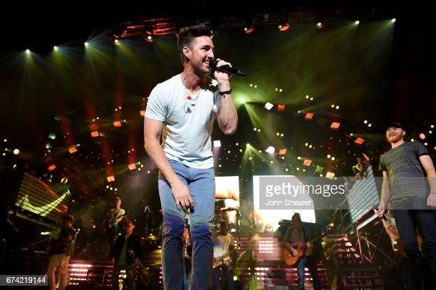 Singersongwriters Jake Owen and Eric Paslay perform onstage at Ascend Amphitheater on April 27 2017 in Nashville Tennessee
