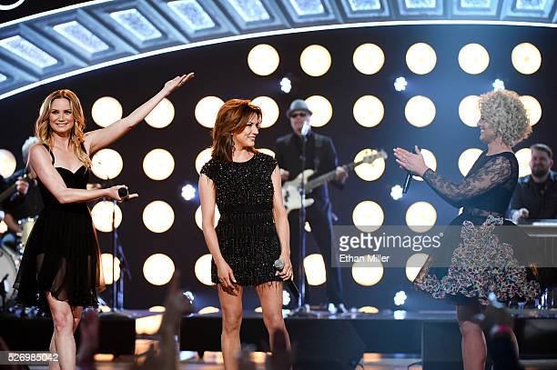 Singer/songwriters Jennifer Nettles Martina McBride and Cam perform onstage during the 2016 American Country Countdown Awards at The Forum on May 1...