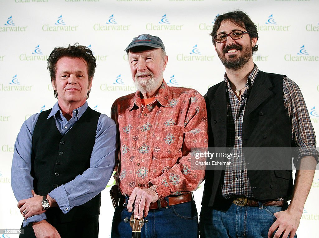 Singer/songwriters John Mellencamp, Pete Seeger and Tao Seeger attend the Clearwater Benefit Concert Celebrating Pete Seeger's 90th Birthday at Madison Square Garden on May 3, 2009 in New York City.