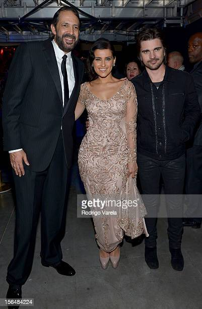 Singer/songwriters Juan Luis Guerra Nelly Furtado and Juanes attend the 13th annual Latin GRAMMY Awards held at the Mandalay Bay Events Center on...