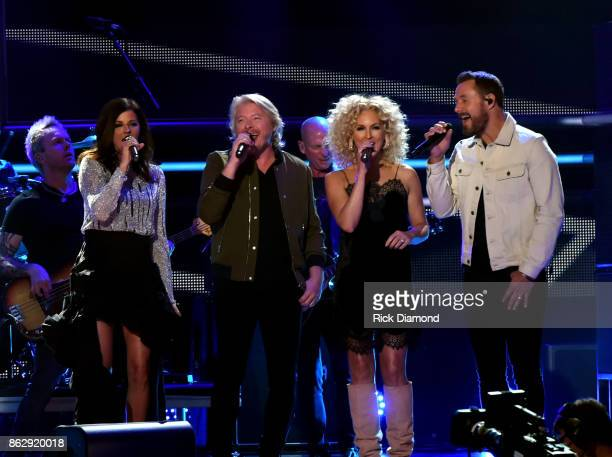 Singersongwriters Karen Fairchild Philip Sweet Kimberly Schlapman and Jimi Westbrook of Little Big Town perform onstage at the 2017 CMT Artists Of...