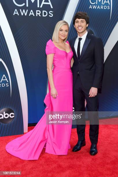 Singersongwriters Kelsea Ballerini and Morgan Evans attend the 52nd annual CMA Awards at the Bridgestone Arena on November 14 2018 in Nashville...