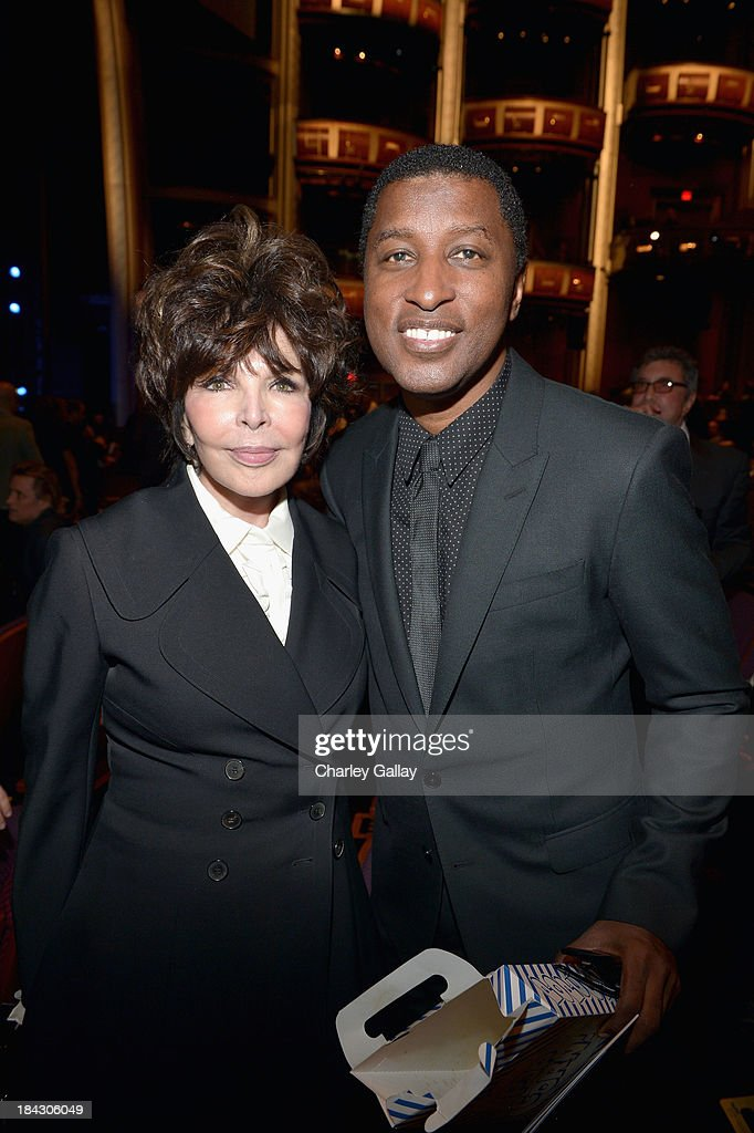 Singer-songwriters Kenneth 'Babyface' Edmonds (R) and Carole Bayer Sager attend 'Hugh Jackman... One Night Only' Benefiting MPTF at Dolby Theatre on October 12, 2013 in Hollywood, California.