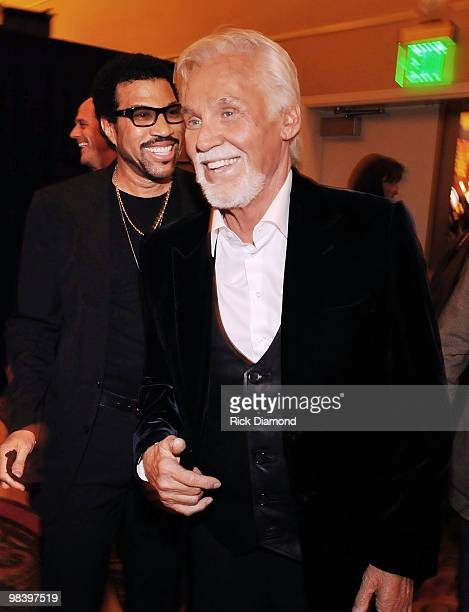 Singer/Songwriters Lionel Richie and Kenny Rogers attend the Kenny Rogers: The First 50 Years award show at the MGM Grand at Foxwoods on April 10,...