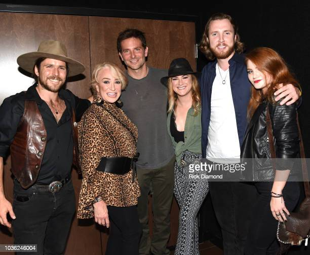 Singer/Songwriters Lukas Nelson Tanya Tucker Actor/Director Bradley Cooper with her children Presley Tanita Tucker Beau Grayson and Layla LaCosta...