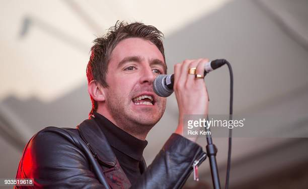 Singersongwriters Miles Kane of Dr Pepper's Jaded Hearts Club Band perform onstage during Rachael Ray's Feedback at Stubb's BarBQ on March 17 2018 in...
