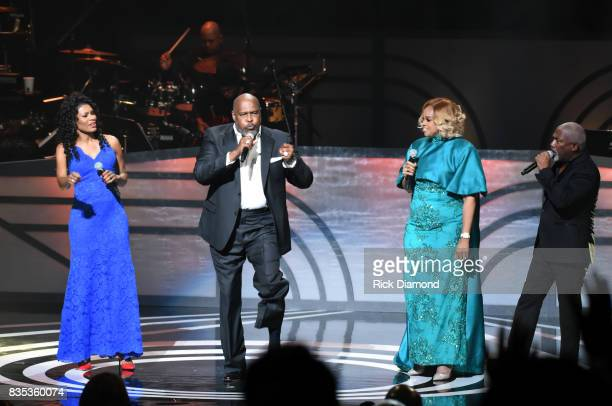 Singersongwriters Nicole C Mullen Marvin Winans Karen ClarkSheard and Jonathan Butler perform onstage at the 2017 Black Music Honors at Tennessee...