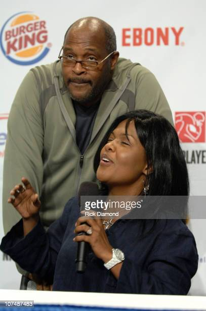 Singersongwriters Pastor Marvin Winans and CeCe Winans answer questions at The 9th Annual NFL sanctioned Super Bowl Gospel Celebration Powered by...