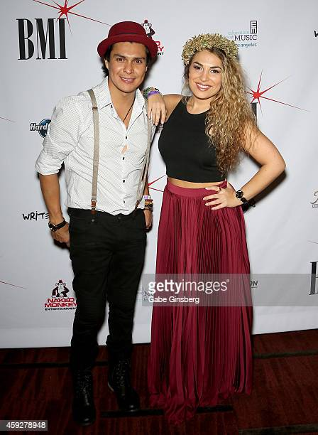 Singer/songwriters Periko Leon and Jessi Leon attend BMI Naked Monkey Entertainment Write On Vegas at Hard Rock Live Las Vegas on November 19 2014 in...