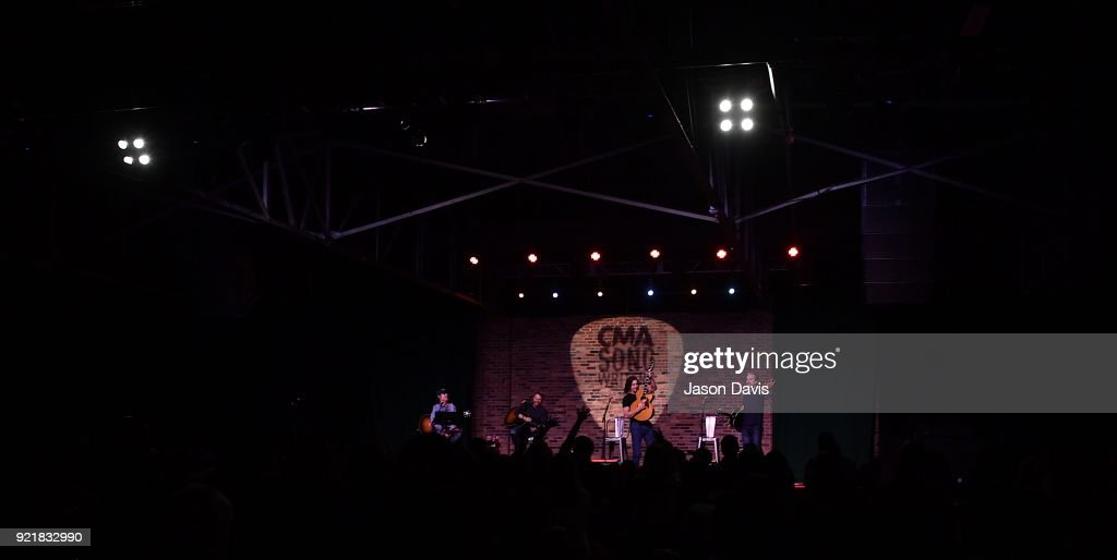 Singer/Songwriters Ross Copperman, Shane McAnally, Brad Warren and Brett Warren perform onstage during the CMA Songwriters Series Celebrating CMA's 9th Annual Tripple Play Awards at Marathon Music Works on February 20, 2018 in Nashville, Tennessee.
