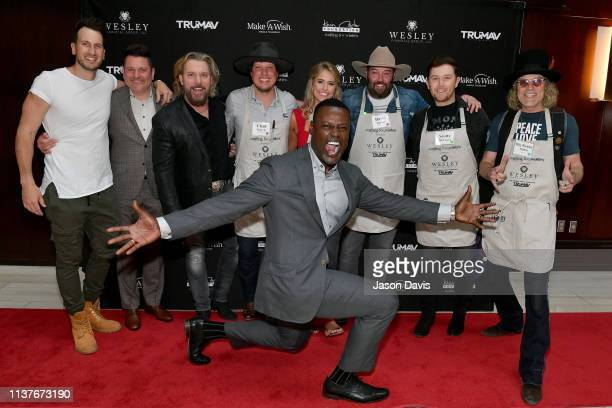 Singersongwriters Russell Dickerson Craig Wayne Boyd Chad Warrix of country music duo Halfway to Hazzard Jillian Cardarelli host Kevin Carter David...