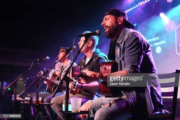 Singer/songwriters Shane McAnally Trevor Rosen and Matthew Ramsey perform at Live Oak on March 11 2020 in Nashville Tennessee