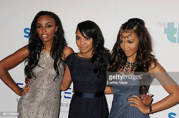 Singer/songwriters Sierra McClain China Anne McClain Lauryn McClain attend the 5th Annual Thirst Gala hosted by Jennifer Garner in partnership with...