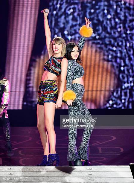 Singer/Songwriters Taylor Swift and special guest Charli XCX perform onstage during The 1989 World Tour Live In Toronto Night 2 at Rogers Center on...