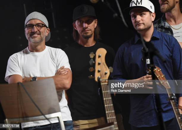Singer/Songwriters The Warren Brothers Brad Warren and Brett Warren with Singer/Songwriter Jordan Schmidt attend Jason Aldean's Triple Party at...
