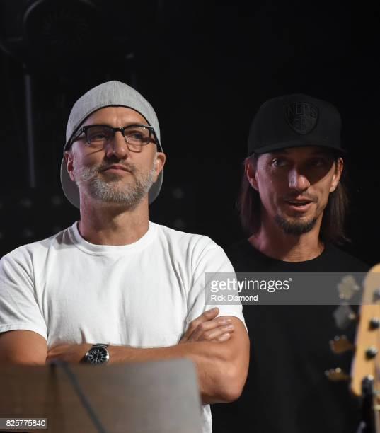 Singer/Songwriters The Warren Brothers Brad Warren and Brett Warren attend Jason Aldean's Triple Party at Wildhorse Saloon on August 2 2017 in...