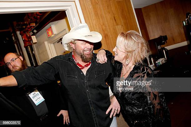 Singersongwriters Toby Keith and Tanya Tucker attend the 10th Annual ACM Honors at the Ryman Auditorium on August 30 2016 in Nashville Tennessee