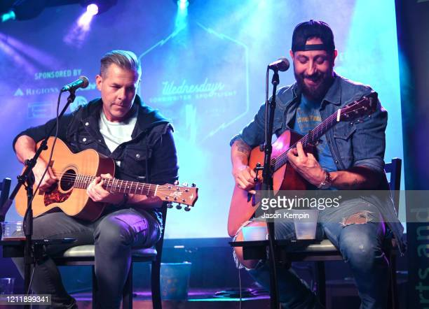 Singer/songwriters Trevor Rosen and Matthew Ramsey of Old Dominion perform at Live Oak on March 11 2020 in Nashville Tennessee