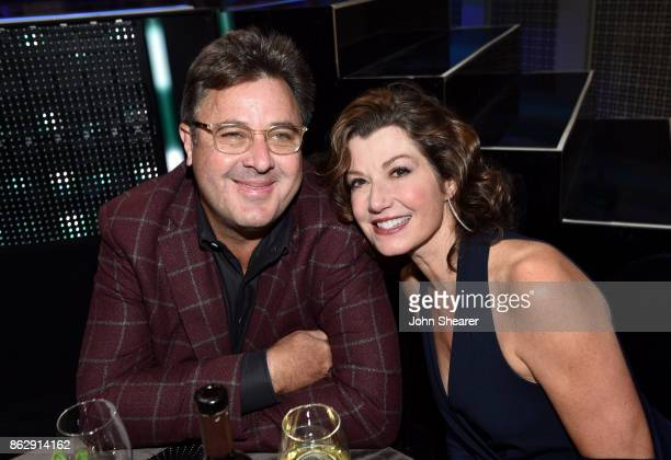 Singersongwriters Vince Gill and Amy Grant attend the 2017 CMT Artists Of The Year on October 18 2017 in Nashville Tennessee