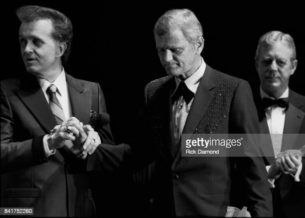 Singer/Songwriters Whispering Bill Anderson, Jerry Reed and Georgia Governor Joe Frank Harris attend The Georgia Music Hall of Fame at The Georgia...