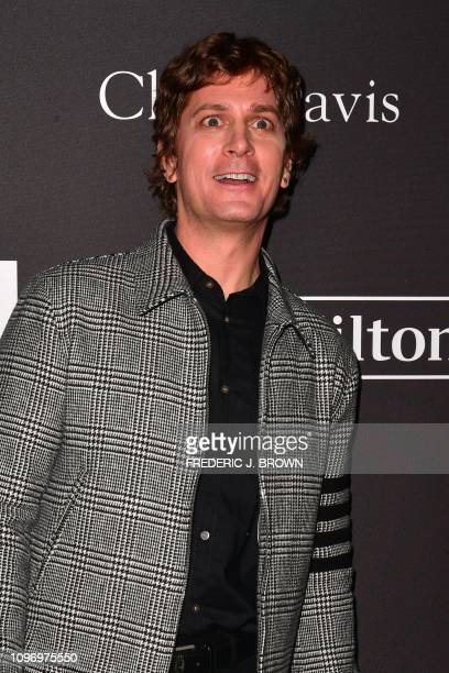 US singersongwrtier Rob Thomas arrives for the traditional Clive Davis party on the eve of the 61th Annual Grammy Awards at the Beverly Hilton hotel...