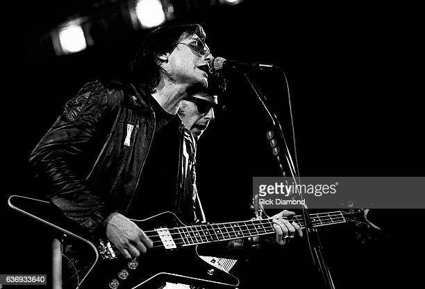 Singers/Songwriters Benjamin Orr and Ric Ocasek of The Cars perform at The Omni Coliseum in Atlanta Georgia October 16 1980