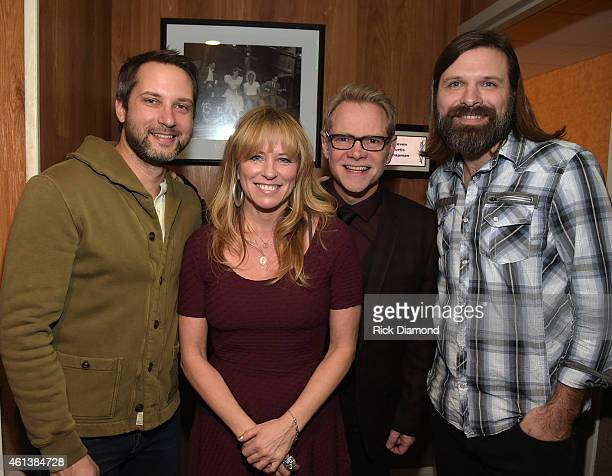 Singers/Songwriters Brandon Heath Deana Carter Steven Curtis Chapman and Mac Powell of Third Day backstage at Sam's Place Music For The Spirit at The...