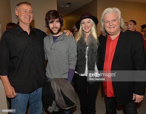 Singers/Songwriters Bruce HorsbyShannon Campbell Ashley Campbell Son and Daughter of Recording Artist Glen Campbell and Ricky Skaggs backstage after...
