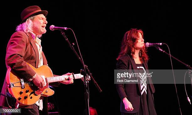 Singers/Songwriters Buddy Miller and Patty Griffin perform during the 'Music Saves Mountains' benefit concert at the Ryman Auditorium on May 19 2010...