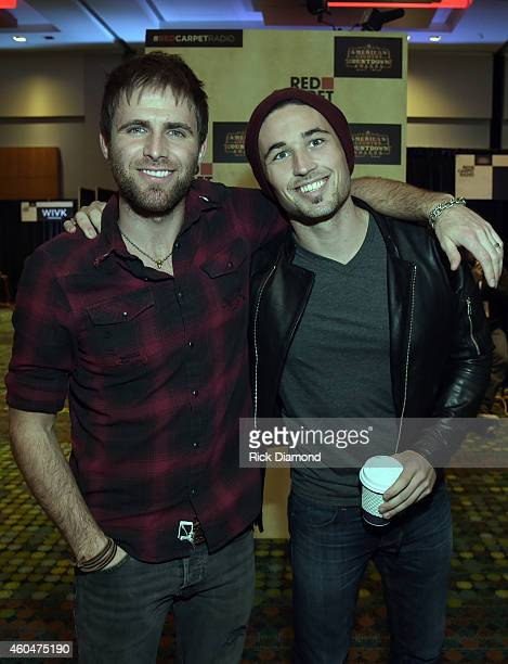 Singers/Songwriters Canaan Smith and Michael Ray attend Red Carpet Radio Presented By Westwood One For The American County Countdown Awards at the...