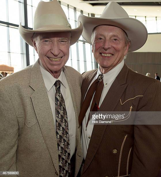 Singers/Songwriters Cowboy Joe Babcock and Ranger Doug of Riders in the Sky attend the CMA announcement that JIM ED BROWN AND THE BROWNS GRADY MARTIN...