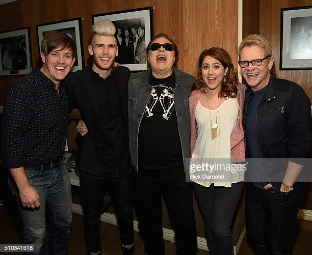 Singers/Songwriters Dave Barnes Colton Dixon Ronnie Milsap Alli Mauzey and Steven Curtis Chapman backstage during Sam's Place Music For The Spirit at...