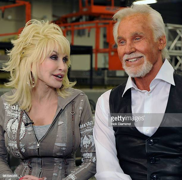 Singers/Songwriters Dolly Parton and Honoree Kenny Rogers Backstage at the Kenny Rogers: The First 50 Years show at the MGM Grand at Foxwoods on...