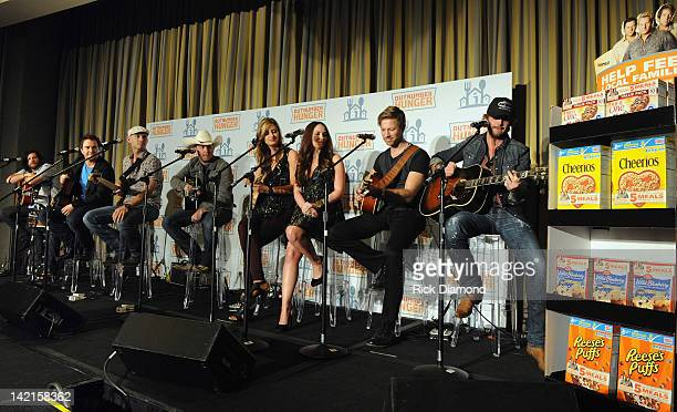 Singers/Songwriters Eli Young Band Justin Moore' Edens Edge and Thomas Rhett along with General Mills Big Machine Records and Feeding America join...
