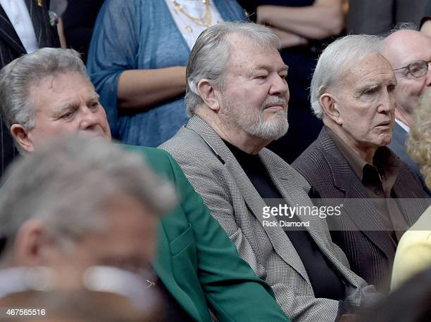Singers/Songwriters Leroy Van Dyke Buddy Kalb and TV Personality/Radio host Ralph Emery attend the CMA announcement that JIM ED BROWN AND THE BROWNS...