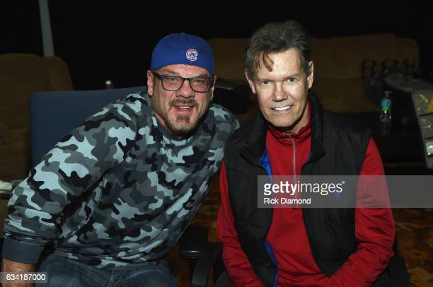 Singers/Songwriters Phil Vassar and Randy Travis attend 1 Night 1 Place 1 Time A Heroes Friends Tribute to Randy Travis Rehearsals on February 7 2017...