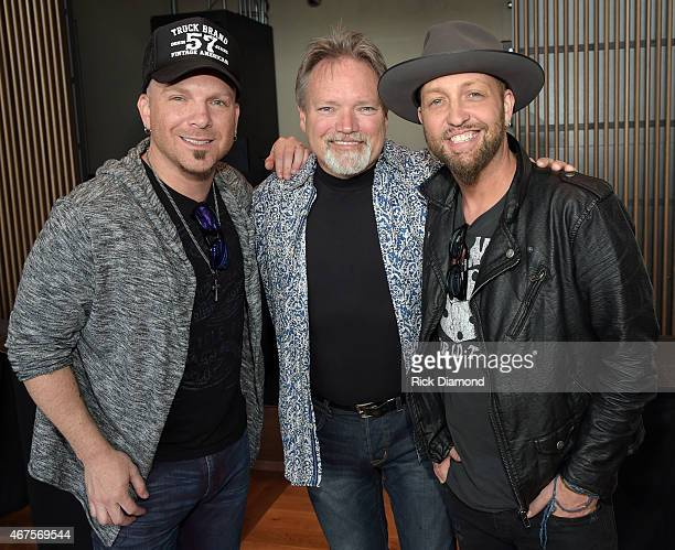 Singers/Songwriters Preston Burst of LOCASH John Berry and Chris Lucas of LOCASH attend the CMA announcement that JIM ED BROWN AND THE BROWNS GRADY...
