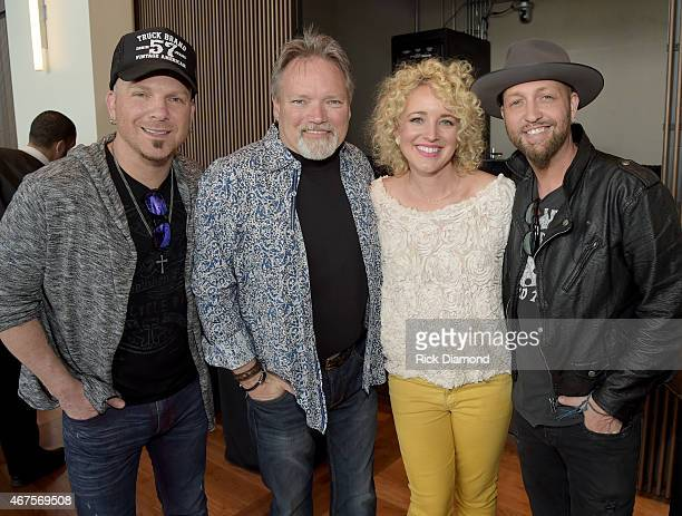 Singers/Songwriters Preston Burst of LOCASH John Berry Cam and Chris Lucas of LOCASH attend the CMA announcement that JIM ED BROWN AND THE BROWNS...