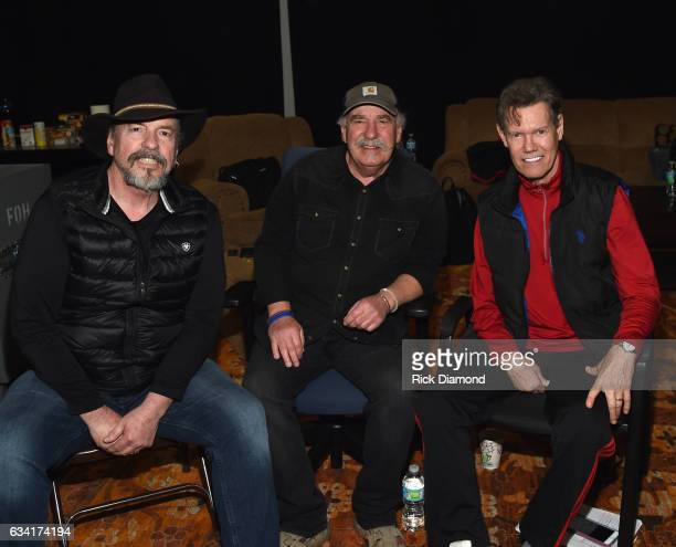 Singers/Songwriters Randy Travis with Homer Howard Bellamy and David Milton Bellamy of The Bellamy Brothers attend rehearsais for 1 Night 1 Place 1...