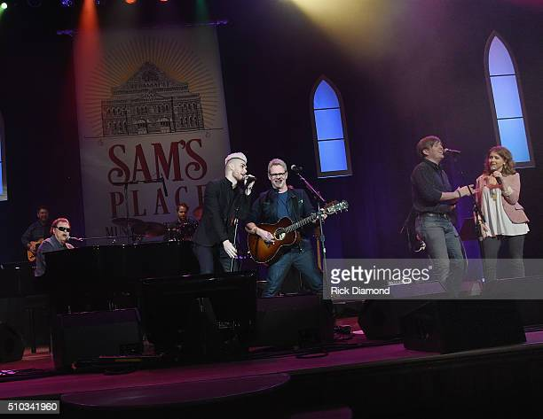 Singers/Songwriters Ronnie Milsap Colton Dixon Steven Curtis Chapman Dave Barnes and Alli Mauzey perform at Sam's Place Music For The Spirit at Ryman...