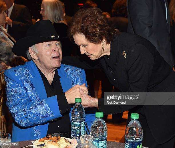 Singers/Songwriters Roy Clark and Jan Howard attend The Country Music Hall of Fame 2015 Medallion Ceremony at the Country Music Hall of Fame and...
