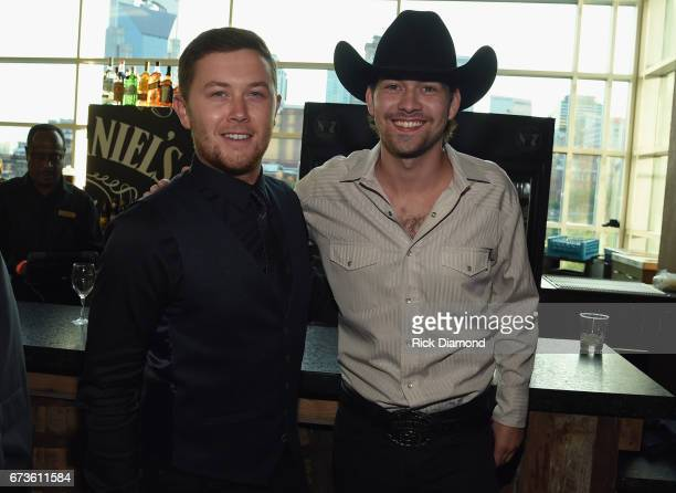 Singers/Songwriters Scotty McCreery and William Michael Morgan attend 2017 CMA Music Teachers Of Excellence Dinner at Nissan Stadium on April 26 2017...