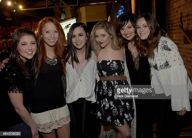 Singers/Songwriters 'Soul Suffragettes Caroline Cole Kalie Shorr Megan Liz Carly Pearce and Jillian Jacqueline perform during the 6th Annual...