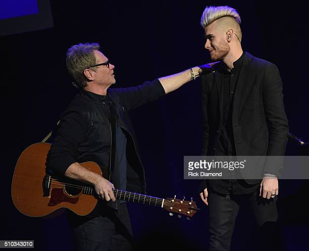 Singers/Songwriters Steven Curtis Chapman and Colton Dixon perform at Sam's Place Music For The Spirit at Ryman Auditorium on February 14 2016 in...