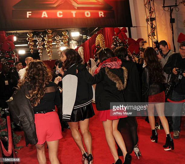 Singers/X Factor finalists Fifth Harmony arrive at Fox's 'The X Factor' Season Finale Night 1 at CBS Television City at CBS Studios on December 19...