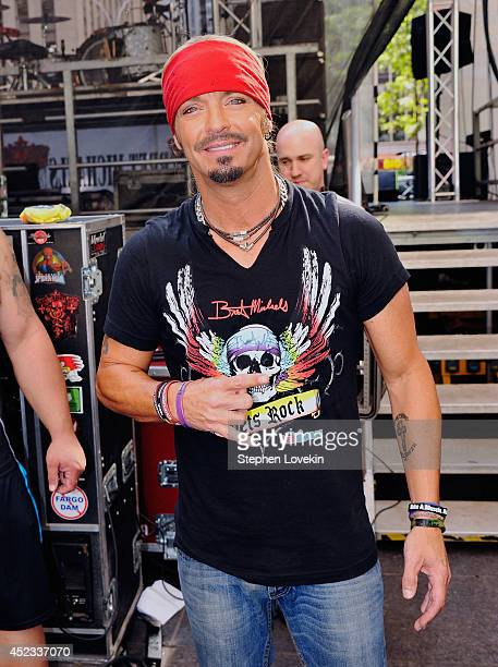 Singer/TV personality Bret Michaels poses for a photo backstage after performing on FOX Friends All American Concert Series outside of FOX Studios on...